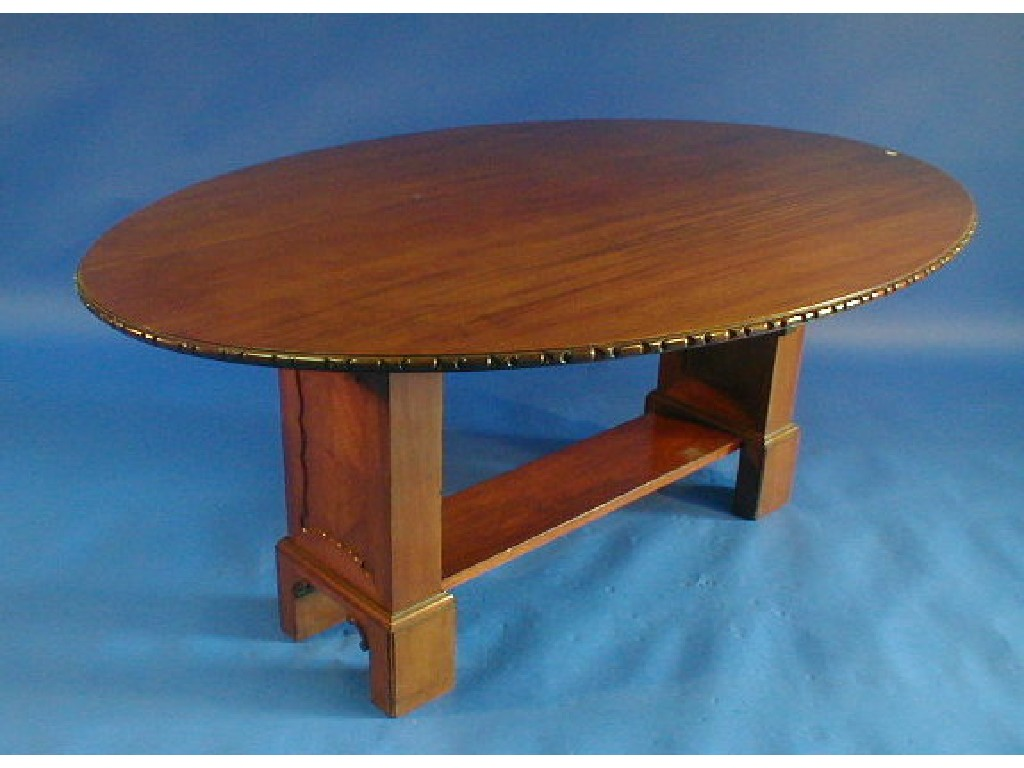 A late 19thC Irish mahogany centre table