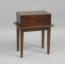 297. An Antique Travelling Desk On A Modern