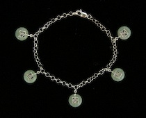 588. A Delicate Sterling Silver And Jade