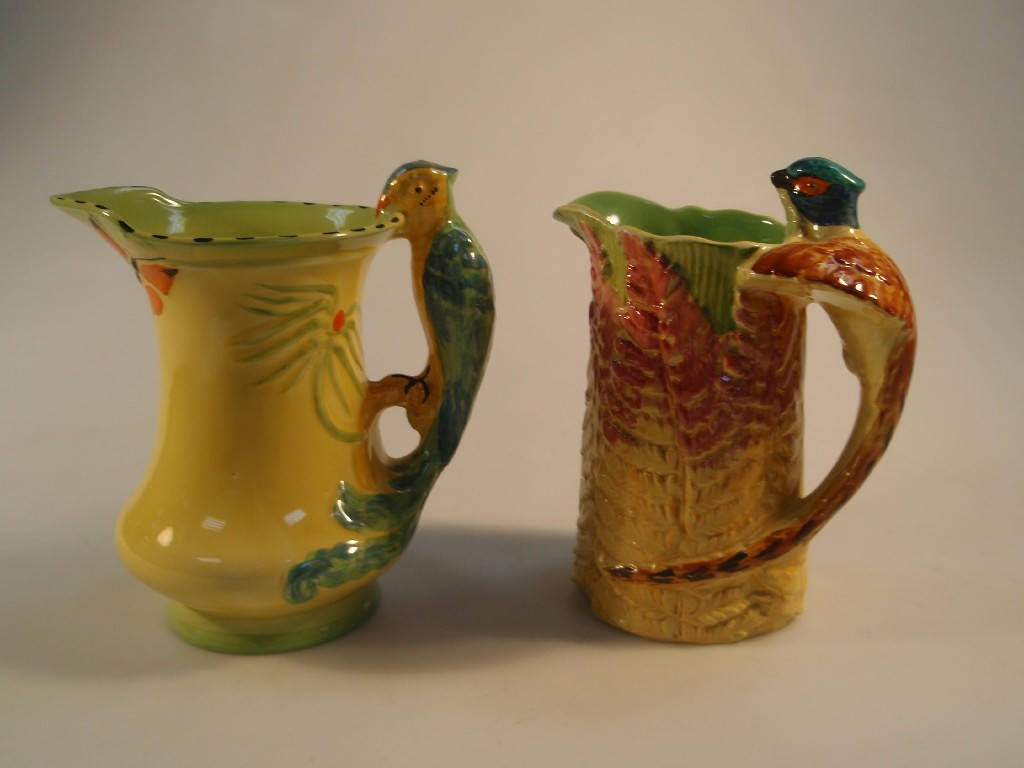 A Burleigh ware pottery jug, moulded and