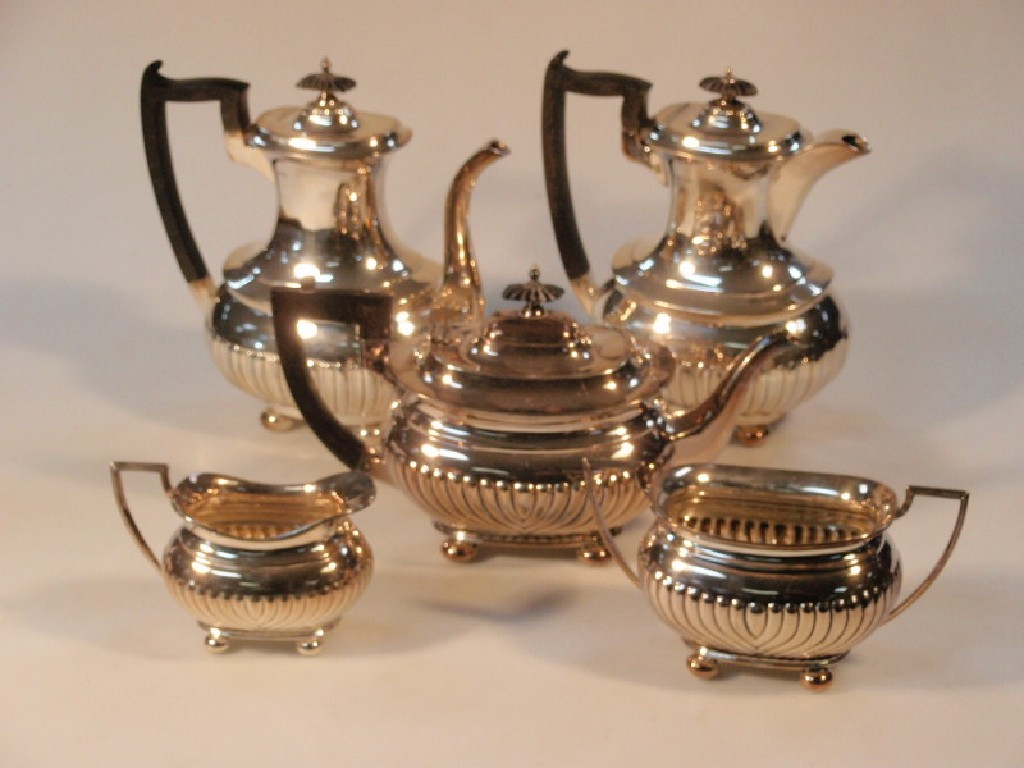 A Walker & Hall electroplated five piece