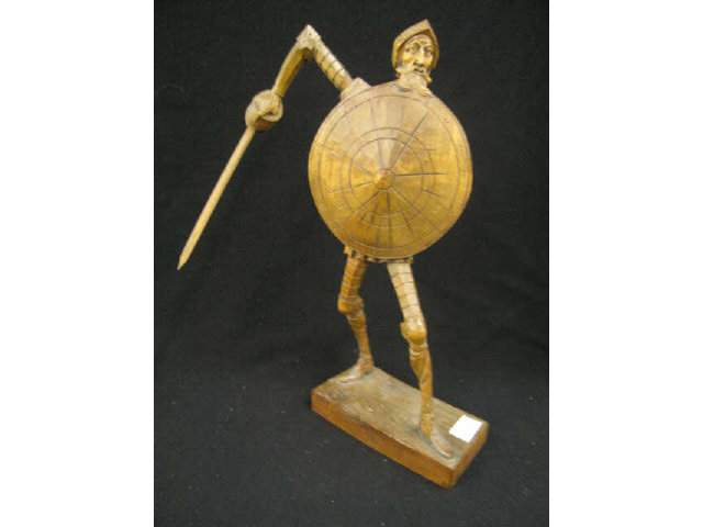 Carved Wooden Figurine of Don Quixote.