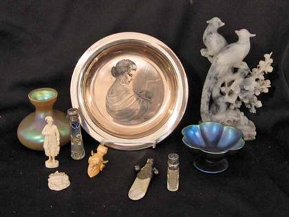 Group of assorted decorative arts    including
