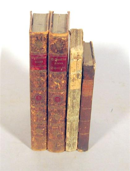 4 vols.  Franklin, Benjamin - 18th-Century