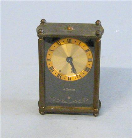Le Coultre brass mounted travel clock