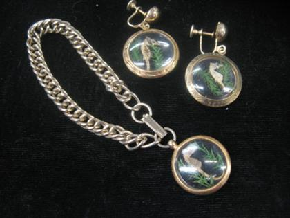Seahorse bracelet and earring set    Matching