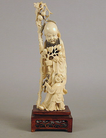 Chinese elephant ivory figure    late 19th