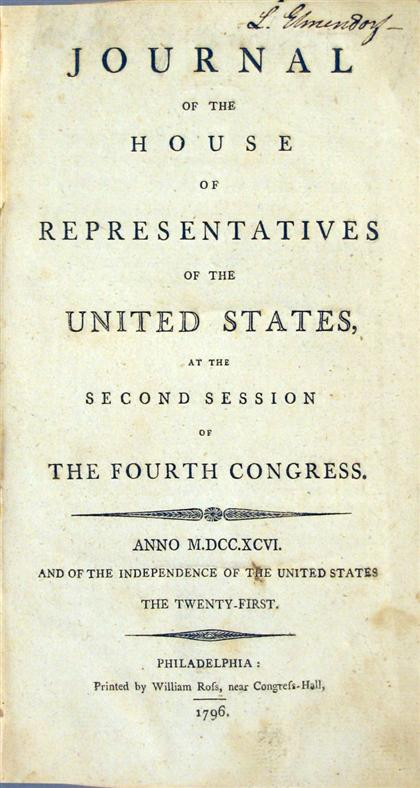9 vols.   United States Congress - Journals