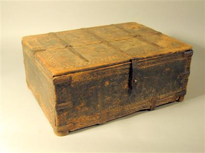 Continental carved document box    17th century