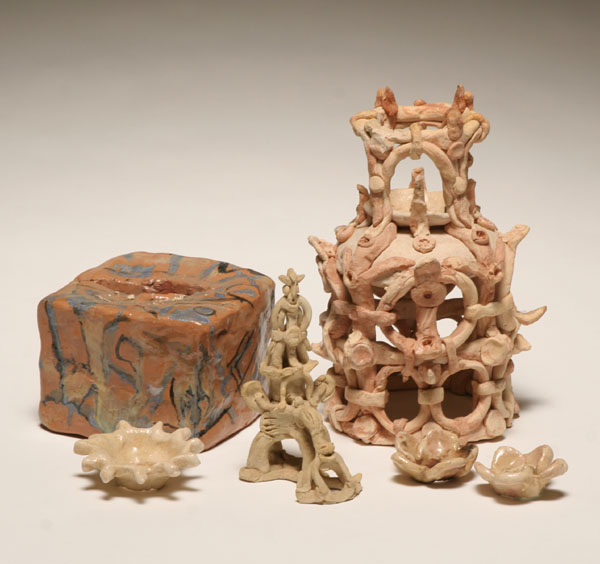 A group of Robert Lohman ceramic items including