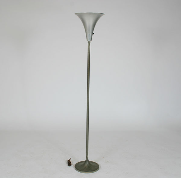 Price guide for Art Deco Mutual Sunset torchiere floor lamp.