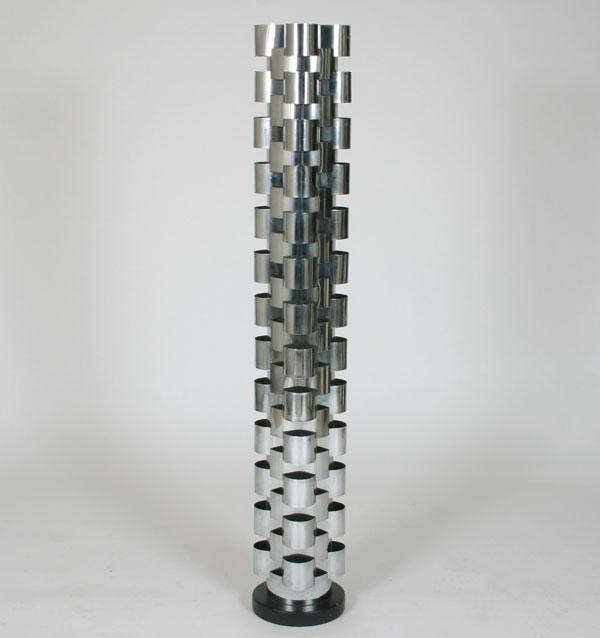 Curtis Jere Modern Chrome Floor Lamp Interlocking