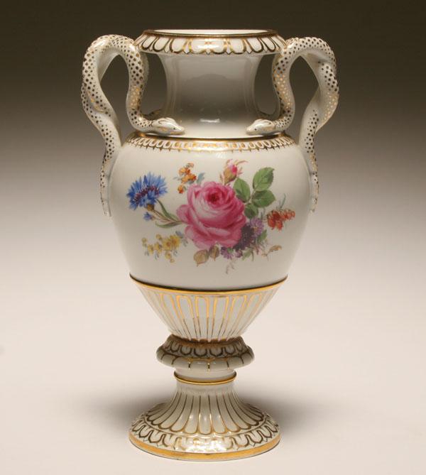Price Guide For Meissen Urn Form Porcelain Vase With Snake