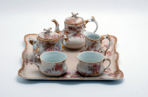 Limoges tea for two set, includes tray, two