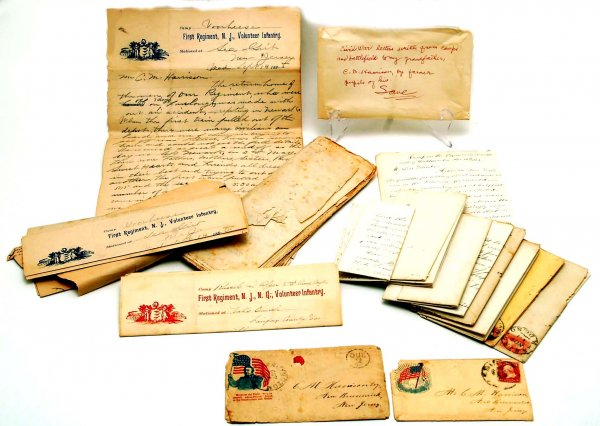 A grouping of Civil War soldier letters addressed