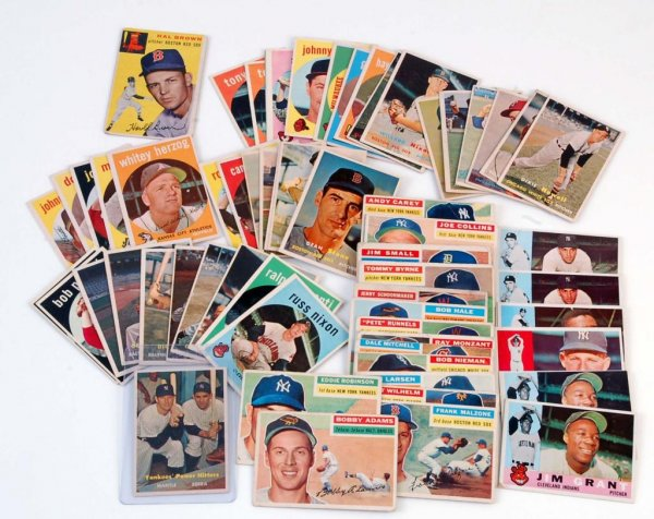 A lot of sixty-six Topps baseball cards from