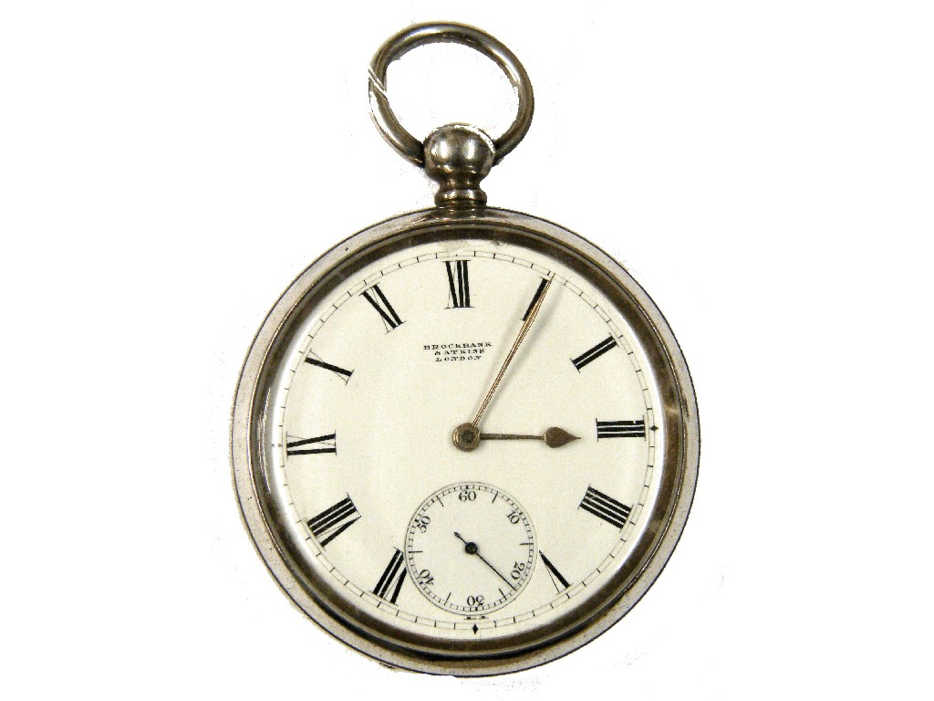 English silver fusee lever pocket watch,