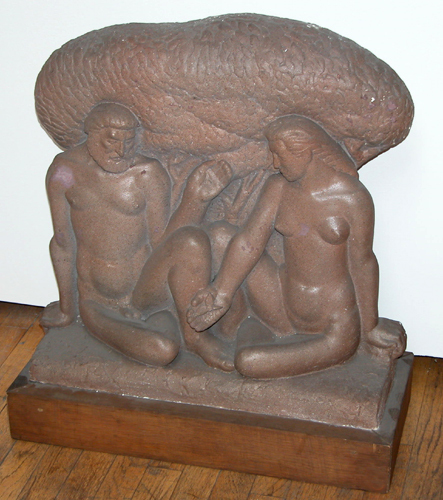 Art Deco Nude Man and Woman