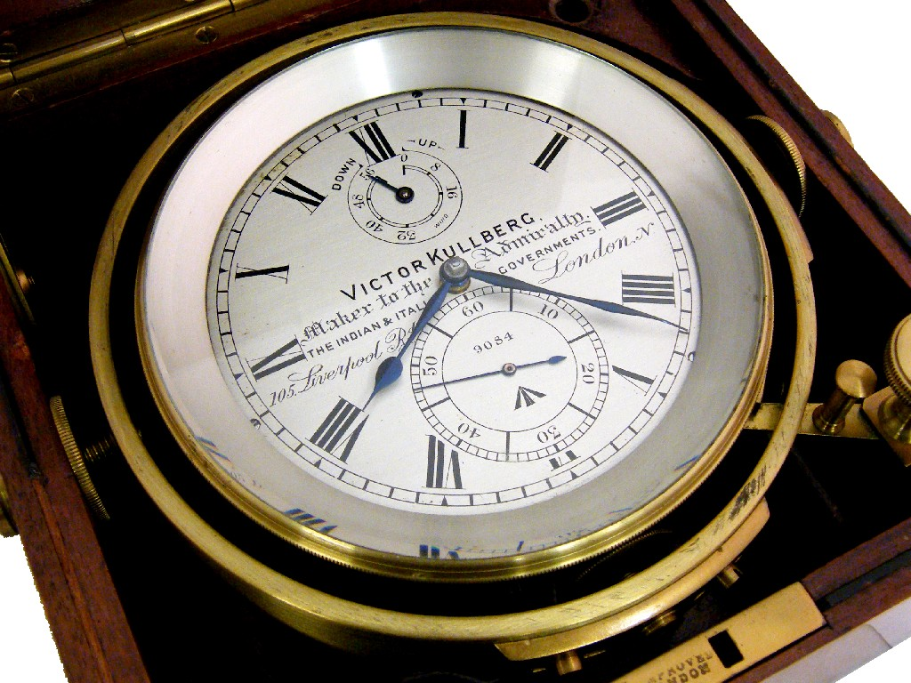 Good two day marine chronometer, by Victor