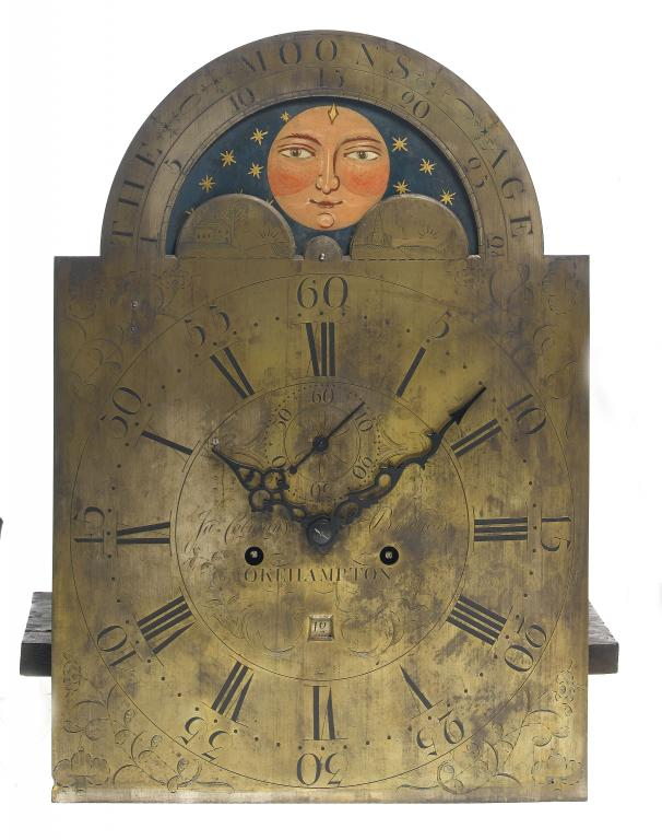 A GEORGE III LONGCASE CLOCK,  the break-arched,