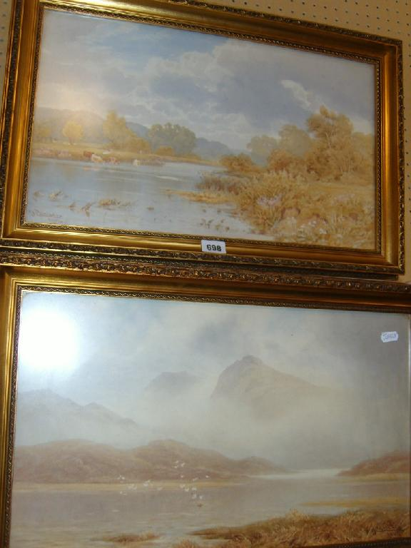 A pair of early 20th century watercolours,
