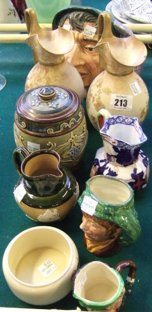 A quantity of ceramics, including; three