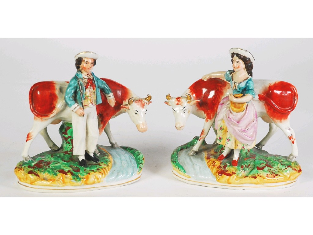 PAIR OF NINETEENTH CENTURY STAFFORDSHIRE