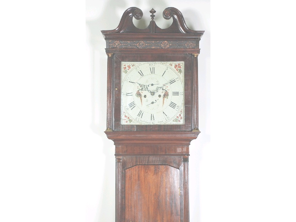 EARLY NINETEENTH CENTURY MAHOGANY LONGCASE