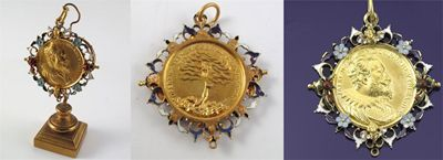 A rare 17th Century German gold medal of