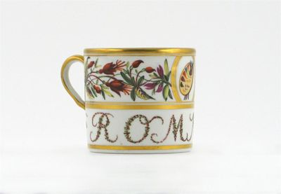 A rare English porcelain coffee can, probably