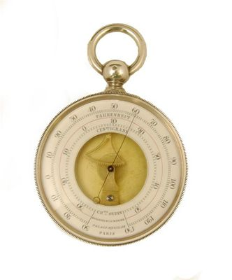 A 19th century French pocket thermometer,