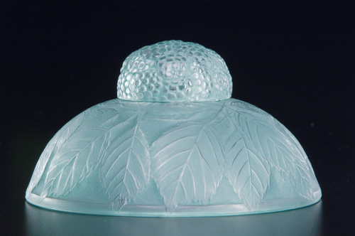 "R. LALIQUE Inkwell, ""Cernay,"" clear and frosted"