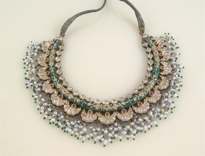 A 20th century Indian fringe necklace, mounted