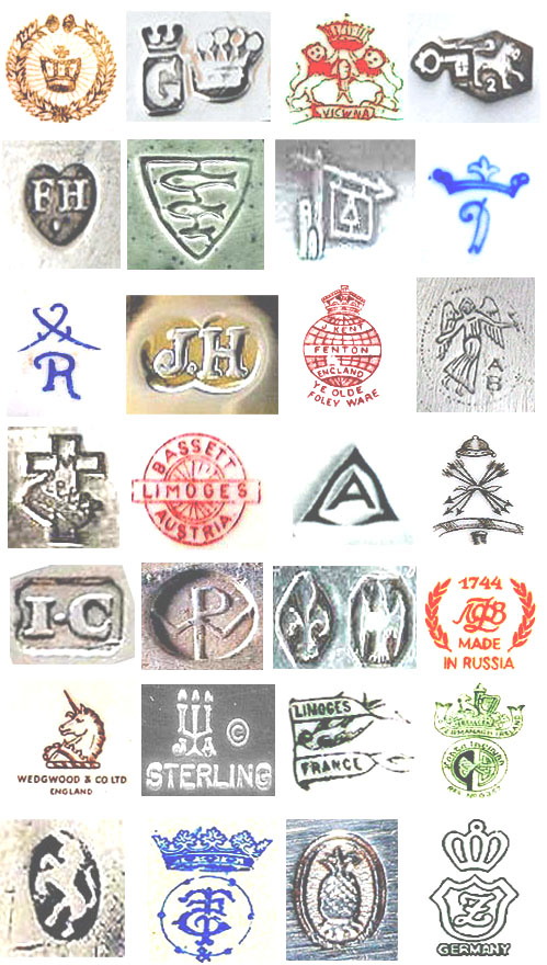 vintage lead crystal makers marks