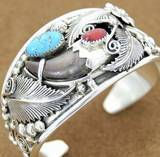 A typical Navajo jewelry bracelet