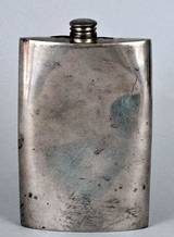 Identify Pewter Flask English Sterling Silver Spoon