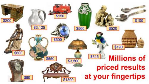 Values and prices guides for antiques